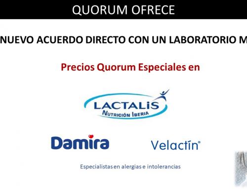 QUORUM OFRECE: Precios especiales en Damira y Velactin de Lactalis