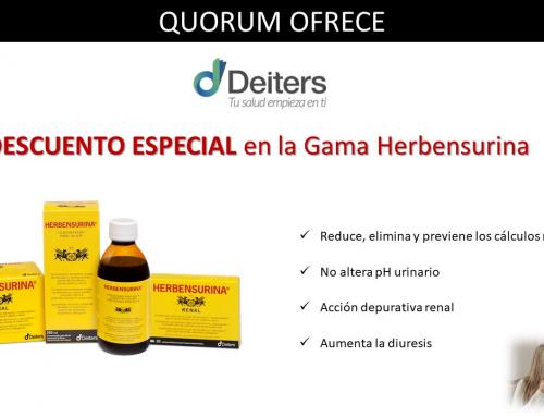 QUORUM OFRECE: Precio Especial en Gama Herbensurina de Deiters