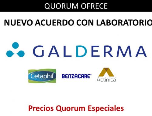 QUORUM OFRECE: Nuevo acuerdo directo con Galderma