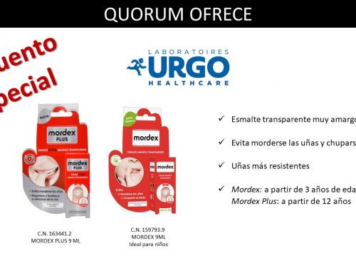 QUORUM OFRECE: Descuento especial en Mordex de Urgo