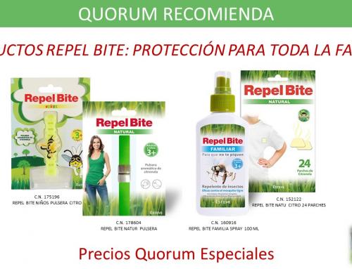 QUORUM RECOMIENDA: Productos Repel Bite