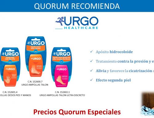 QUORUM RECOMIENDA: Apósitos para las ampollas de Urgo Healthcare